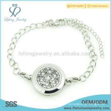 Las cadenas de la pulsera del locket del perfume al por mayor, diseño de las pulseras del locket