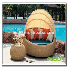 big cheap outdoor furniture-rattan round bed