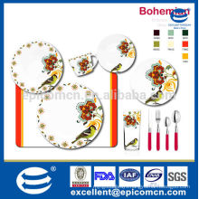 chinese special flower and birds design decorated new bone china dinnerware
