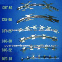 anti climb galvanized razor blade/barbed wire,rbw