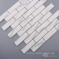 Printing White Glass Mosaic Subway Wall Tile