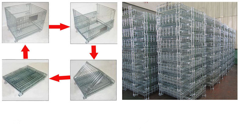 Stackable Steel Pallet Cage