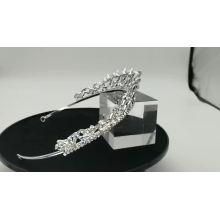 Casamento de prata Cristal strass coroa casamento noiva Ballet Tiara capacete para concurso