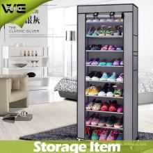 Gabinete plegable del estante del almacenaje del zapato de la tela de los muebles grandes de la tela