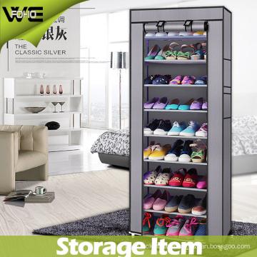 Large Fabric Furniture Folding Fabric Shoe Storage Rack Cabinet