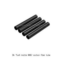 3K Twill matte 30x28x1000mm 100% tubos de fibra de carbono