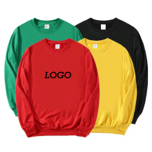 Custom Logo Hoodie Plus Size Sweatsuit Warm Solid Color Crew Neck Cotton Men′s Hoodie