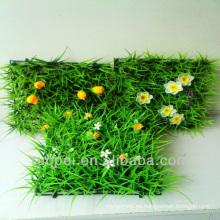 decoración de jardín / césped paisajístico de césped artificial con flores