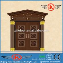 JK-C9036 einzigartige Haus Design Sicherheit Tür Kupfer Bogen Tür Design