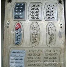 Compresión caucho teclado molde y teclado silicona moldes