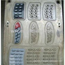 Compressão de borracha teclado molde & teclado silicone moldes