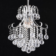 Factory source for Crystal Pendant Light simple chrome crystal chandelier pendant light supply to India Suppliers