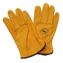 Ab Grade Cow Grain Leather Driving Work Glove Industrial Protective Working Glove