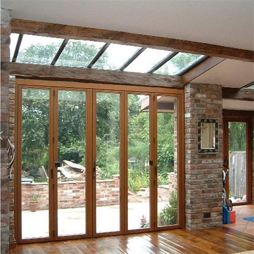 Aluminum Foldable Glass Doors