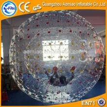 Cuerpo de juego al aire libre de seguridad bola zorb, bola inflable gigante bola zorb