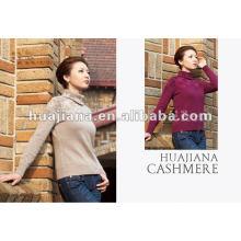 Мода женщин Кашемировый свитер водолазка
