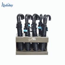 A estação chuvosa venda quente personalizado papelão guarda-chuva Rack de exibição, guarda-chuva andar Display Stand fábrica fornecimento diretamente