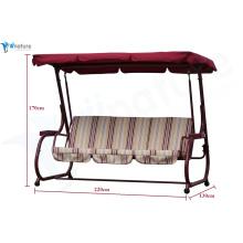 Balanço do pátio para 3 pessoas com mobília ao ar livre dossel 2014