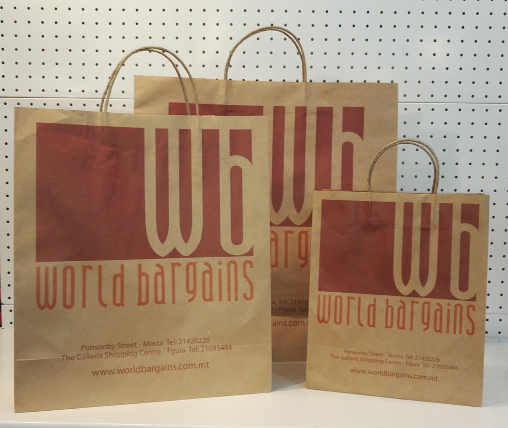 Large Brown Paper Shopping Bags