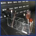Vanity Posh Clear Acryl Pinselhalter mit Deckel