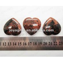35MM Herzform Goldener Schwan Stein, hoch poliert, hochwertige, natürliche Herzform Stein