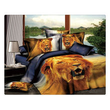 100% cotton 40s 133*72 reactive printed wholesale 3d bedding sets
