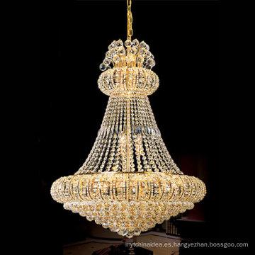 Lámpara colgante de araña de cristal grande moderna de uso interior LT-65009