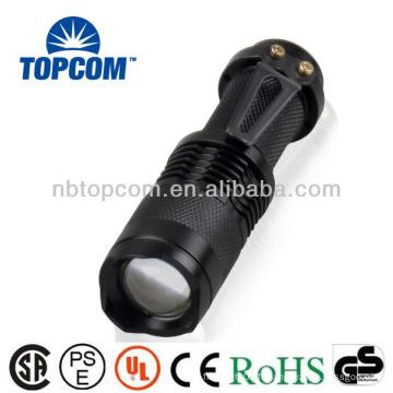 Mini 14500 batterie cree XPE zoom petite lampe de poche puissante