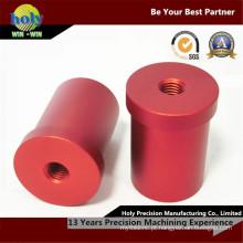 Peça de giro fazendo à máquina do CNC do OEM com óxido de alumínio vermelho