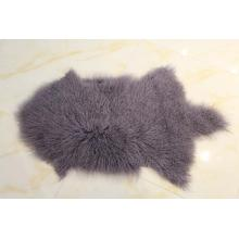 Long Curly Hair Mongolian Sheepskin Fur Skin