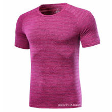 Camisa de jogging rápida de cor rosa