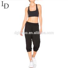 Diseño de moda casual 3/4 pantalones deportivos mujer
