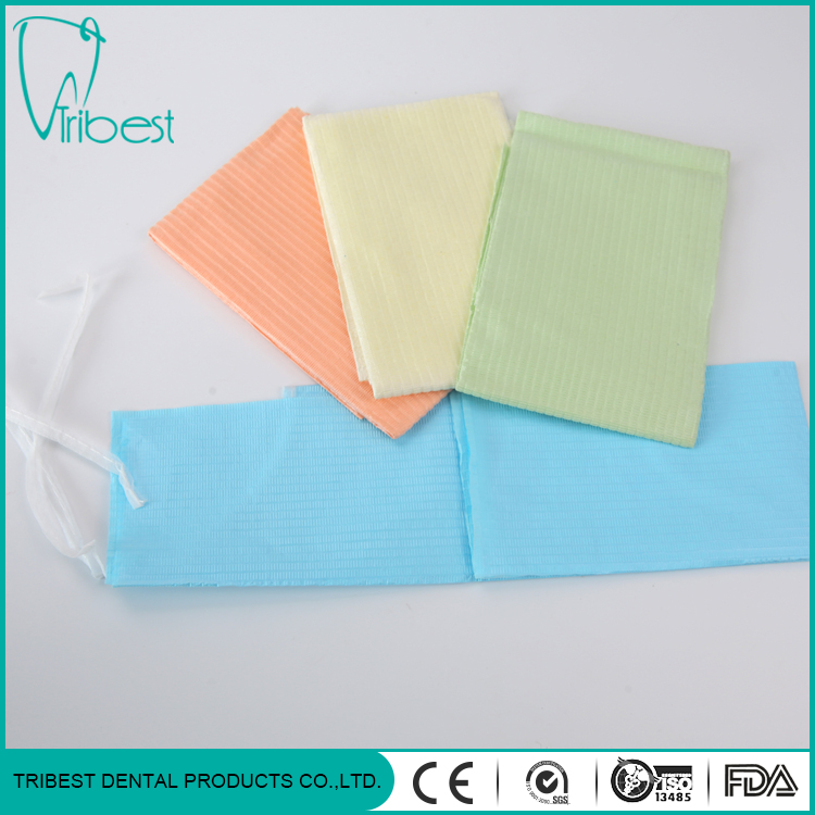 dental bib with tie