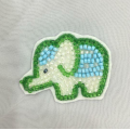 Bling Crystal Bead Stone Custom Elephant Patches Partihandel