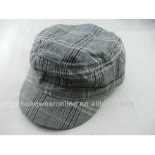 Custom Kid's plaid Military Caps of 100%Cotton Dongguan Factory
