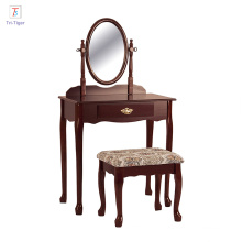 Crown Mark Vanity Cherry finish dressing table set