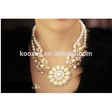 Fashion pearl flower necklace