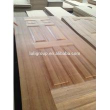 Piel de HDF de la puerta con la chapa de madera de teca Natural
