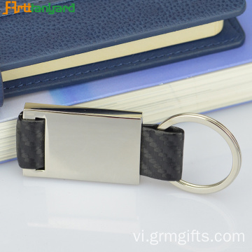 Loop Keychain Da Với Metal Plated