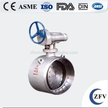 butt welding metal hard seal butterfly valve