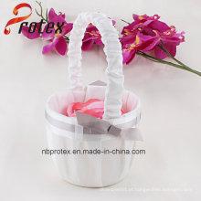 2015 Última cesta de flores artesanais de casamento para florista