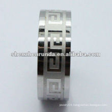 wholesale men's 316L stainless steel signet rings