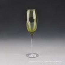 Heißer Verkauf farbige mundgeblasene Glas Champagner Flöten