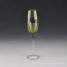 Hot Sale Colored Hand Blown Glass Champagne Flutes