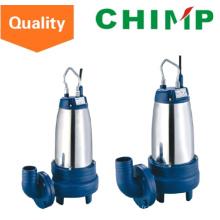 Pompe d'eaux d'égout de roue de fonte de fonte d'enveloppe d'acier inoxydable dans l'eau (WQDK15-7-1.1QG)