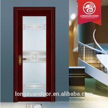Portes intérieures pliantes en verre à faible hauteur style design de porte de salle de bain porte battante en aluminium