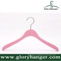 Pink Matte Wooden Hanger with Matel Hook