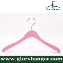 Pink Matte Wooden Hanger with Matel Hook