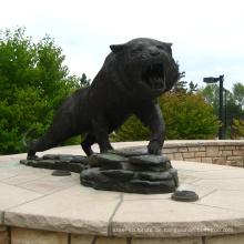 Themenpark Statue benutzerdefinierte Metall Bronze Gießerei Metall Tiger Skulpturen