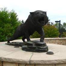 тематический парк статуя изготовленный на заказ металл бронзовый Литейный цех металлического тигра скульптуры